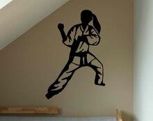 Stickers muraux de Judo pour combattants   Autocollant Mural de décoration de maison, salon de combat fille Sport, mur de tatouage en vinyle amovible A580