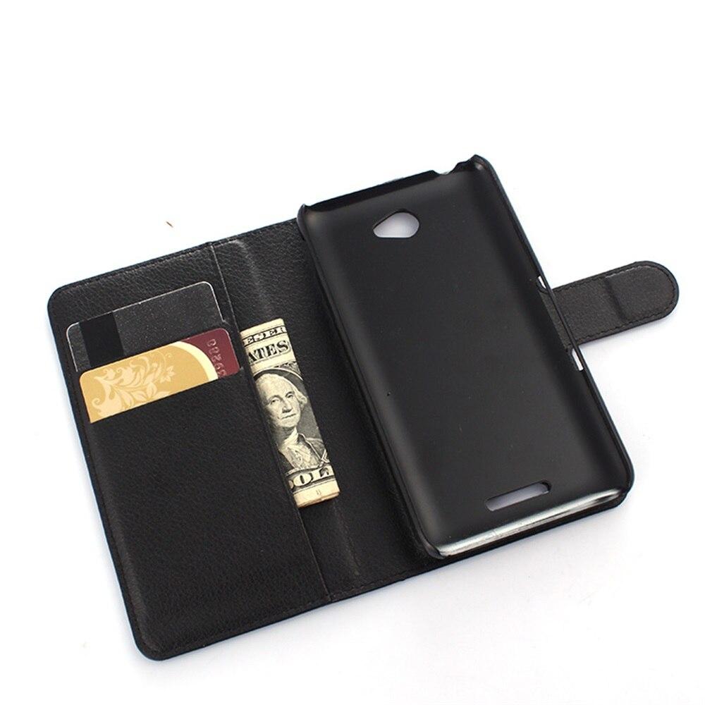 Cyboris para Sony Xperia E4 E2104 E2105 E2114 E2115 E2124 caso tirón caso Lichee Funda de cuero de la PU con tarjeta ranura para los titulares