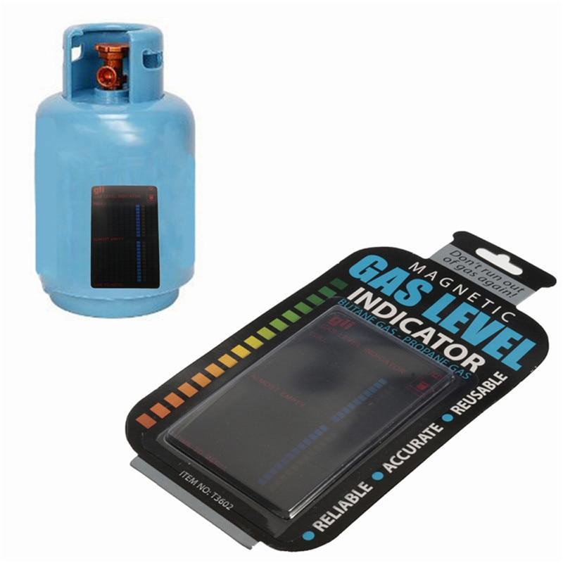 Magnetic Gas Cylinder Tool Gas Tank Level Indicator Propane Butane LPG Fuel Gauge Caravan Bottle Temperature Measuring Stick