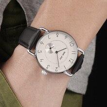 Wal-joy marque hommes montre bracelet en cuir montre décontracté Quartz-montre mâle étanche sport horloge montre minimaliste (8005)