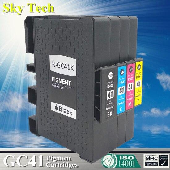 متوافقة خرطوشة لريكو GC41 GC-41 ، لريكو ريكو SG 3110DNw/3110SFNw/3100SNw/2100N/3110DN/7100DN. مع الحبر الصباغ