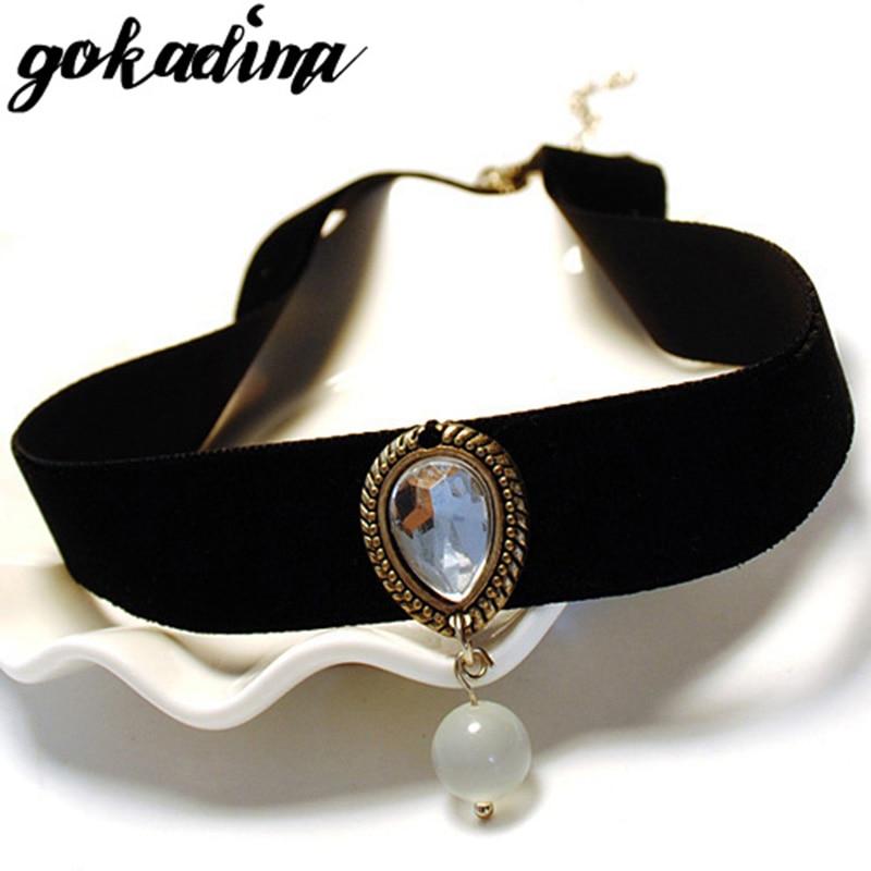 Gokadima collar necklace 2019 vintage Handmade Retro statement women Short Steampunk choker necklace Girl Lolita Gothic jewelry