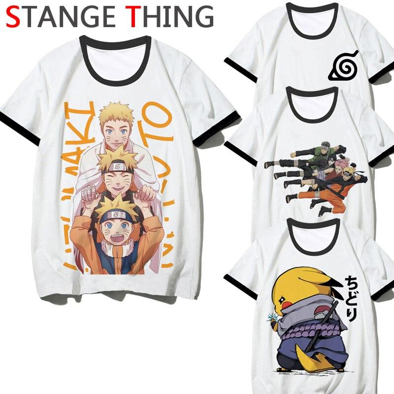 Anime Naruto Akatsuki Harajuku T Shirt per Gli Uomini/Donne di Modo di Estate Del Fumetto T-Shirt Casual Tshirt Divertente Top Magliette Maschio /Femmina