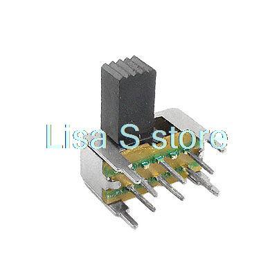 10 Uds. x SK22H04-G5/G7/G9 5mm 7mm 9mm perilla lateral de altura 6 pines 2 posiciones DPDT 2P2T interruptor deslizante Horizontal 0.5A 50V DC