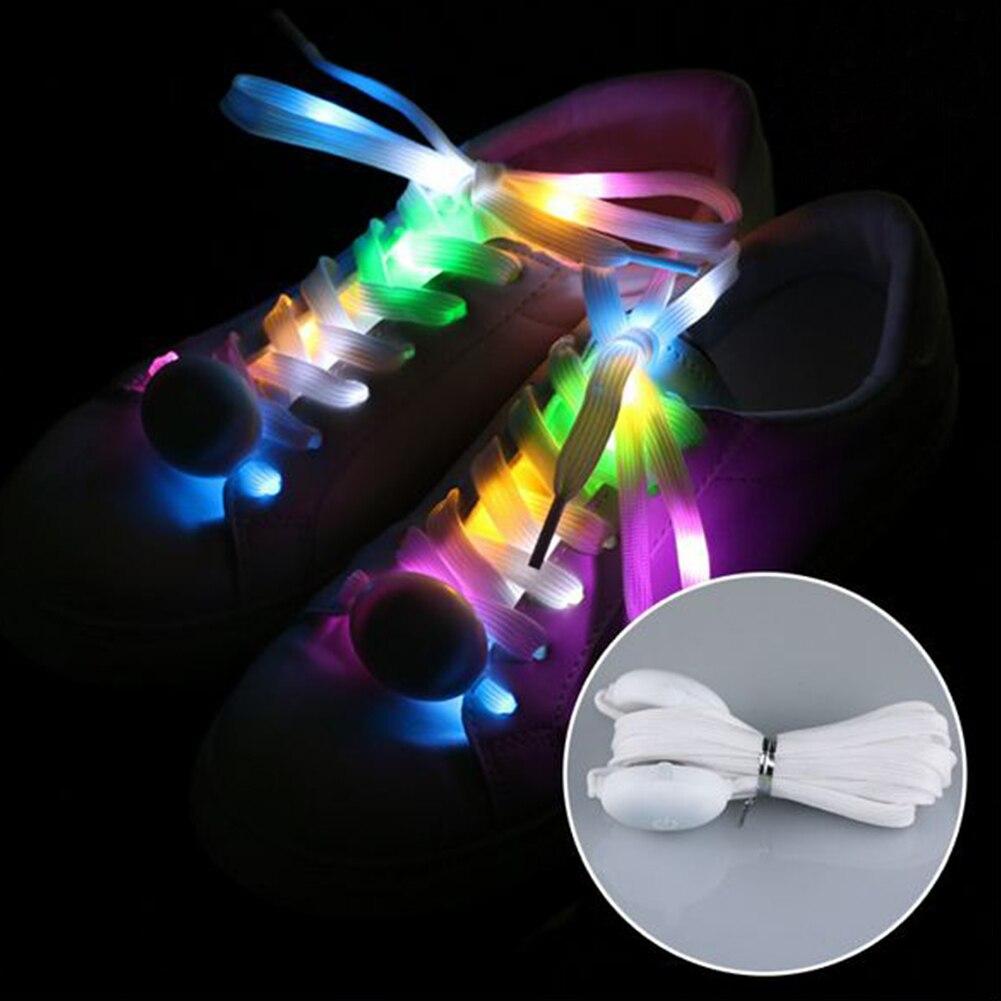 Club Fabala encender la batería de baile luminoso Cordón de zapato con LED Multicolor parpadeante corriendo fresco al aire libre deportes cordones