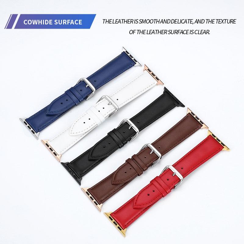 38mm 42mm reloj banda de cuero correa de reloj de las importaciones brillante lado Apple iwatch banda de reloj de correa