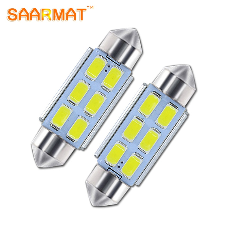 2 * piezas de SAARMAT C5W festón de 36mm Canbusr con chips Samsung, bombilla LED para matrícula, bombilla LED para Skoda Octavia Superb