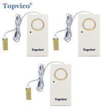 Topvico 3pcs Water Lek Detector Sensor Lekkage Alarm Detectie 120dB Alert Draadloze Home Security Alarm Systeem