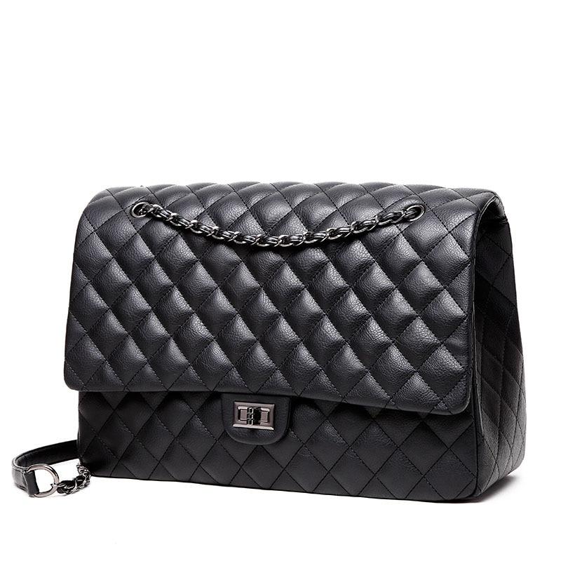 Winmax سعة كبيرة حقيبة المرأة مكتب سلسلة حقيبة كتف السفر حقيبة يد فاخرة للبنات جلدية بولي Quilted مبطن حقيبة بولسا الأنثوية