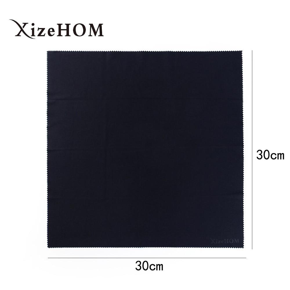 XizeHOM 30*30cm /2 pcs Large Microfiber Eyeglasses Cloth Sunglasses Eyewear Specs Cleaning Cloth Glasses Black Clean Lens cloth