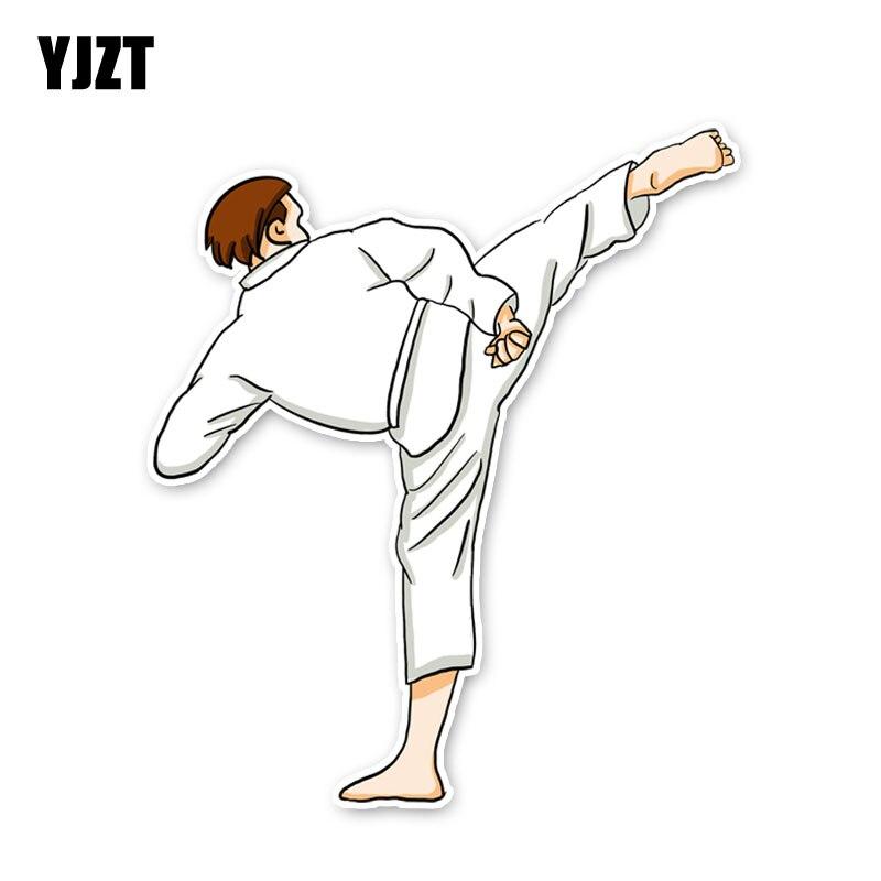 YJZT 13,4*11,6 CM extremo deporte Niño Taekwondo ejercicio accesorios coche pegatinas parachoques 11A1695