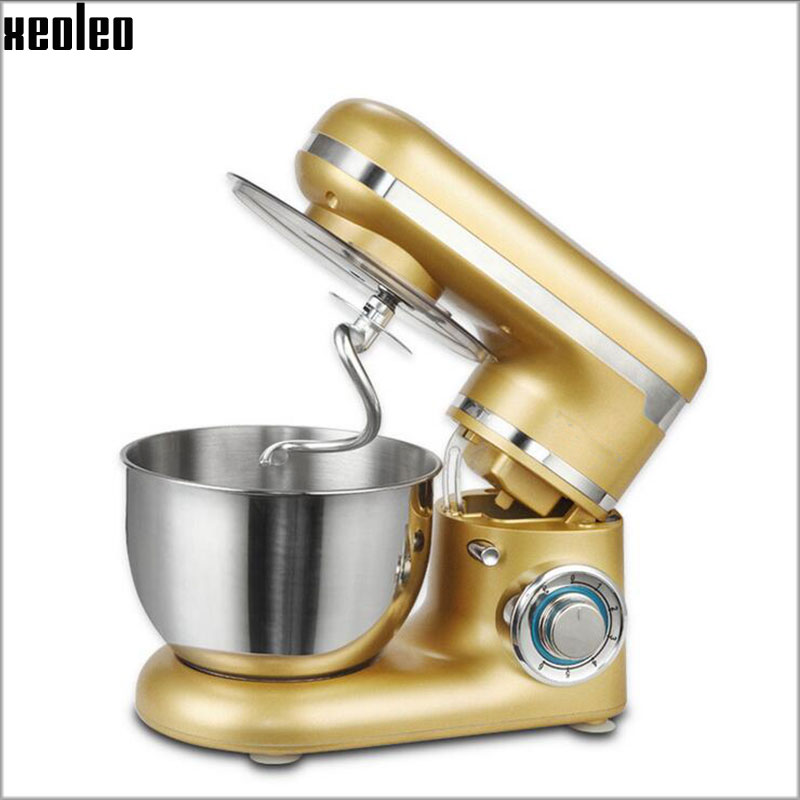 Mezclador de masa Mezclador de alimentos planetario XEOLEO, máquina para amasar pan, batidor de 6 velocidades, mezclador de soporte de alimentos de cocina con tazón de acero inoxidable