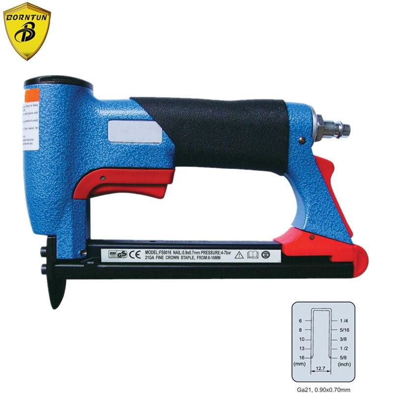 Grapadora neumática de aire, clavadora, pistola de clavos, grapadora de grapas, FS8016-B de 1/2 pulgadas, grapa de corona fina, herramienta de carpintería de 6-16mm