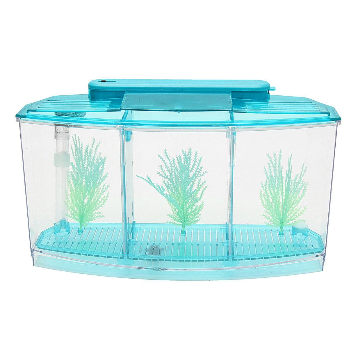 Betta separador de pecera agua hierba inodoro desove pecera DIY 2 colores caja de desove ambiental Drop Shipping