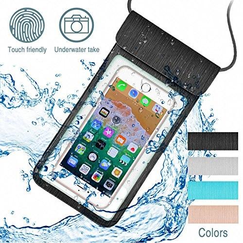 FM HGQ Universal funda impermeable para iPhone X XS X MAX 8 7 6 Plus S9 bolsa de la cubierta de maletines para teléfono Coque del teléfono a prueba de agua