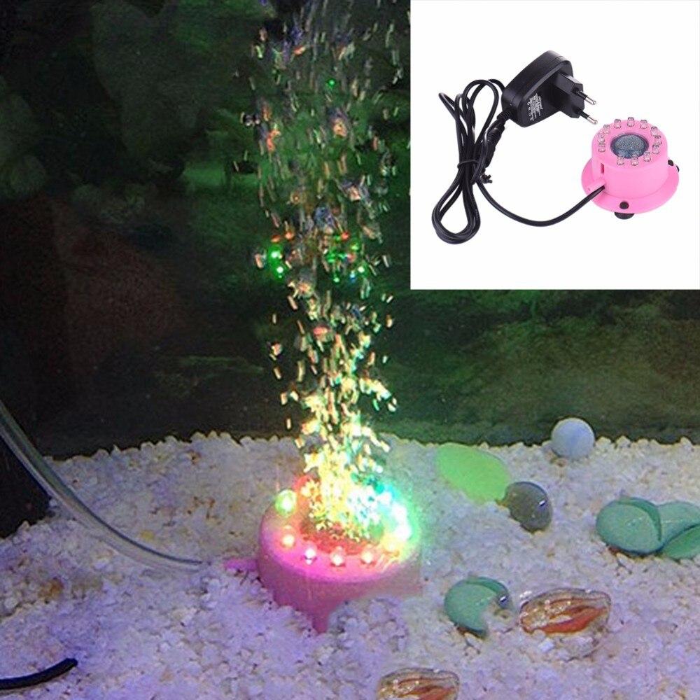 Hot Sale Aquarium Fish Tank LED Light Submersible Waterproof Colorful Air Bubble Lamp Aquarium Decorations Air Bubbles Stone