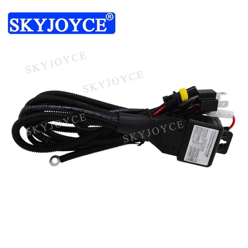 SKYJOYCE 12V 35W 55W H4 controlador de arnés de relé H4-3 9007-3 H13-3 HID Hi/Low bi-xenon arnés de cableado para Kit de Xenón HID