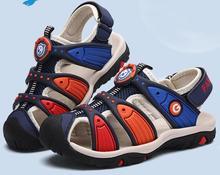 2018 new high quality girls sandals baotou soft bottom boys summer sandals kids sandals