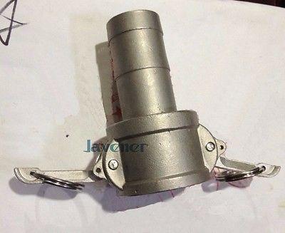 """3/4 """"espiga para manguera 316 de acero inoxidable leva Lock Socket Coupler Acoplamiento de ajuste de leva y ranura"""