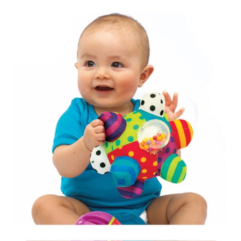 Детский Забавный шар, милый плюшевый Мягкий тканевый ручной погремушка, обучающая игрушка для детей, развивающая игрушка для детей, музыка