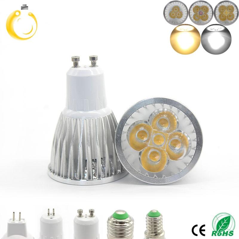 Bombilla LED GU10 de alta calidad 9W 12W 15W bombilla LED regulable 110V 220V blanco cálido/frío 60 haz ángulo de luz