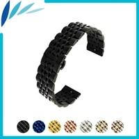 stainless steel watch band 20mm 22mm for ck calvin klein butterfly buckle strap quick release loop belt bracelet black silver