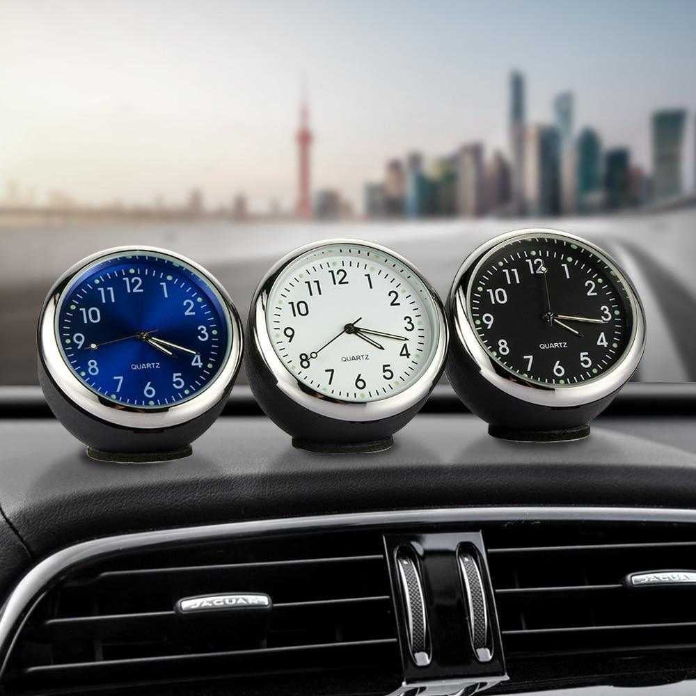Car Decoration Clock Ornament  Auto Watch Clock Dashboard Vehicle Auto Interior Decor Digital Pointer Clock Car-styling Gifts