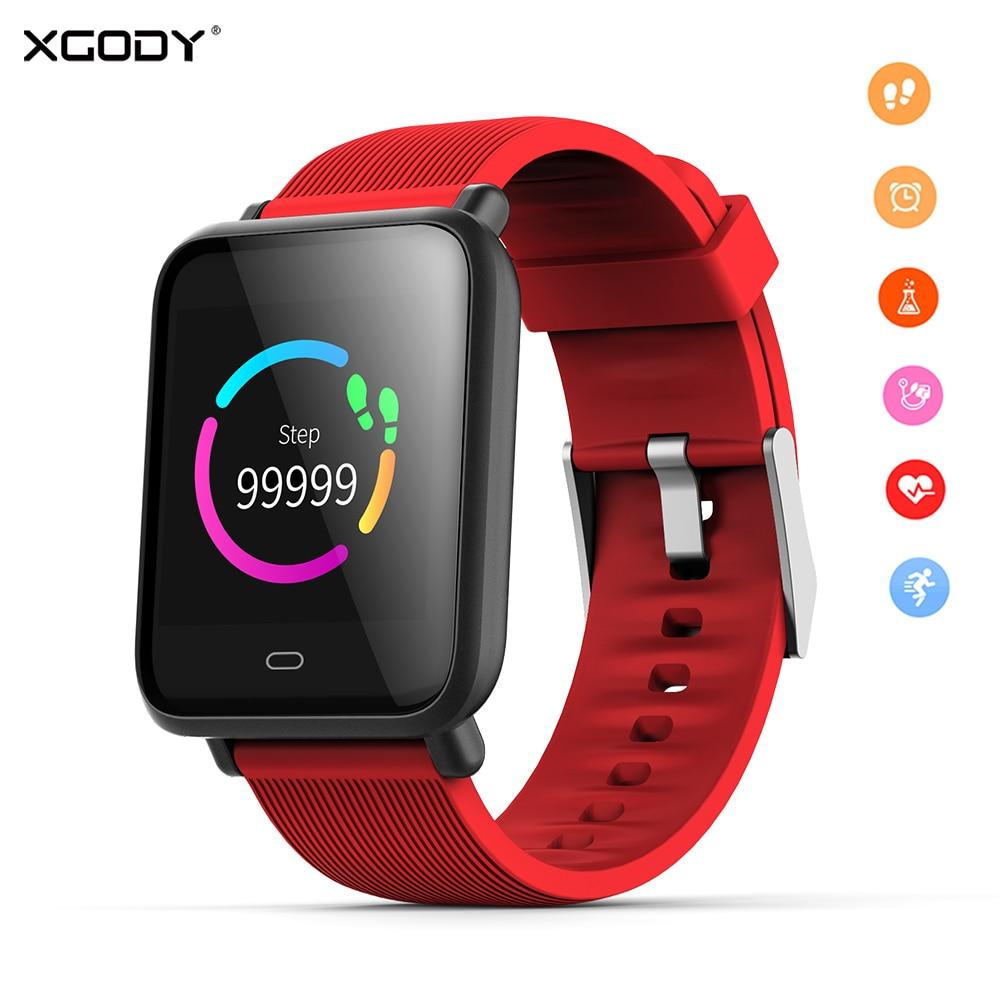 XGODY Q9 Smart Uhr Bluetooth Sport Smartwatch Herz Rate Monitor Wasserdichte Aktivität Fitness Tracker Männer Frauen für Telefon