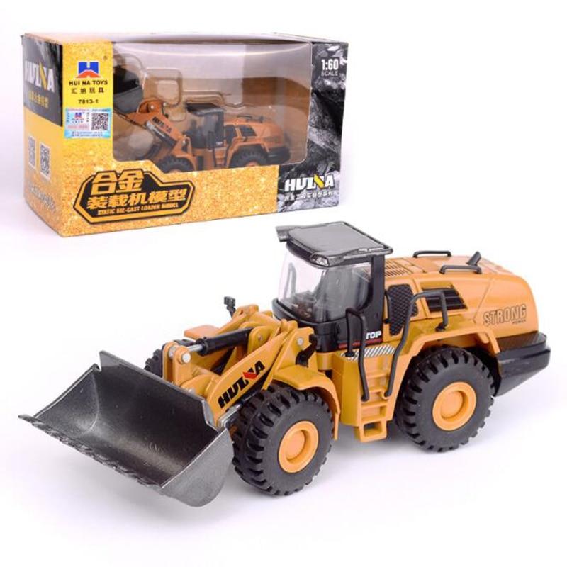 Modelo de camión a escala 1/60 de aleación fundida de Metal para coches, excavadora, camión, vehículo, modelo de juguete, juguete de ingeniería para colección de niños