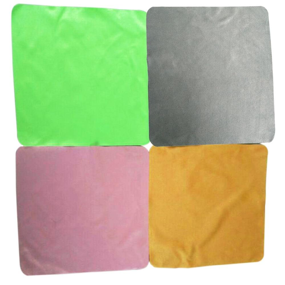 4 pçs/lote 20*20cm grande microfibra limpeza pano limpeza almofada sanitária para óculos telas lentes-cor aleatória quente
