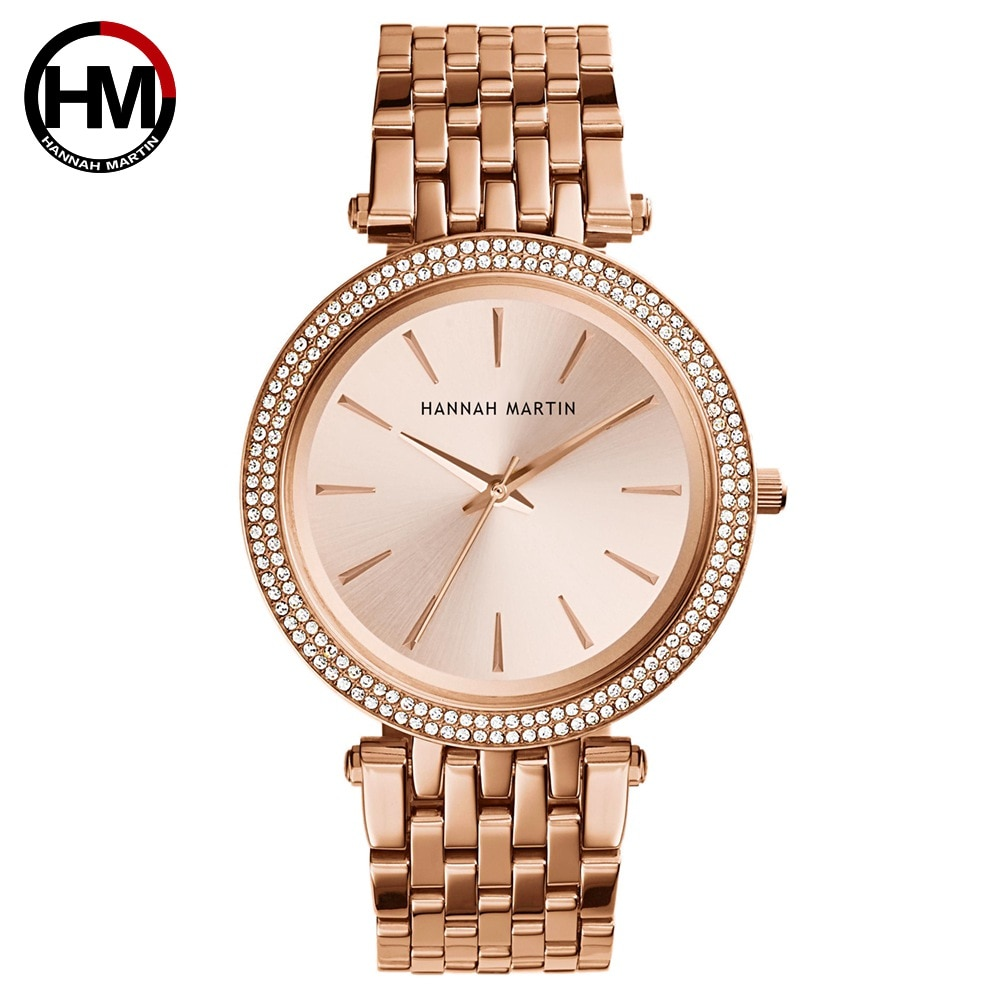 Women Rhinestones Watches Top Brand Luxury Rose Gold Diamond Business Fashion Quartz Waterproof Wristwatches Relogio Feminino enlarge