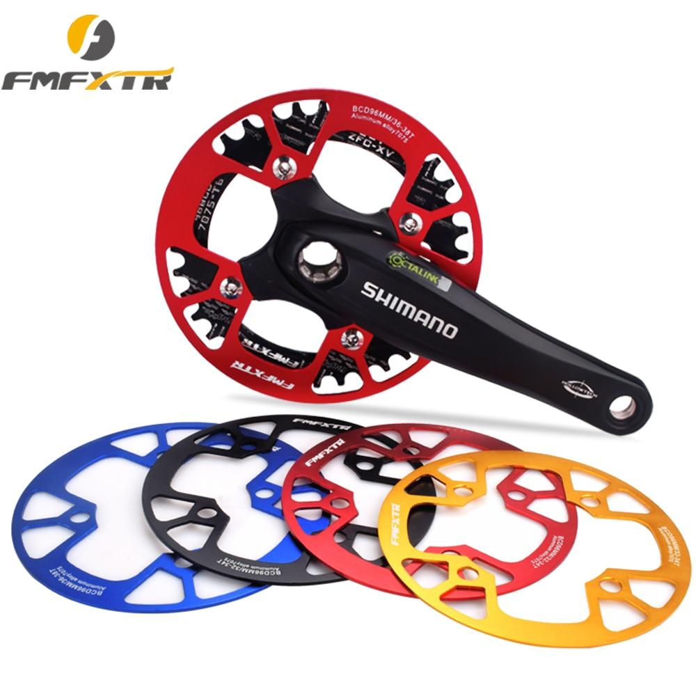 FMFXTR MTB bicicleta de carretera piñón de protección cadena Protector de rueda anillo de manivela cubierta protectora de barro accesorios de bicicleta 96BCD 32-38 T
