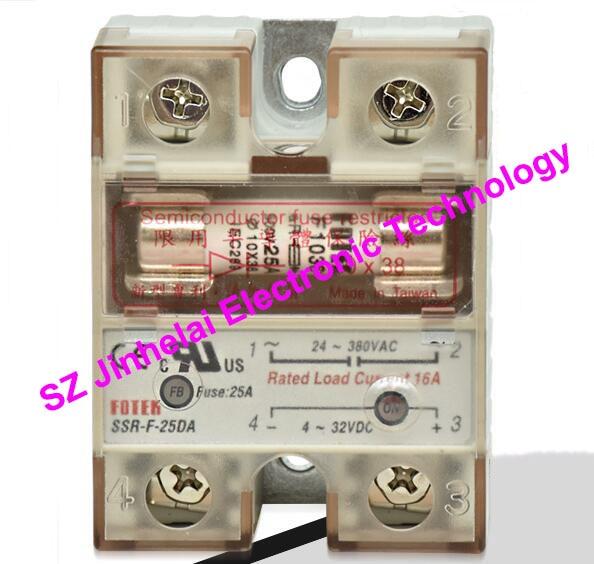 100% auténtico original SSR-F-25DA, SSR-F-25DA-H FOTEK Semiconductor fusible limitado relé de estado sólido