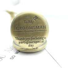 to my groomsman  thank you for beinga part of ourspecial day Vintage Bronze antiques Important gift