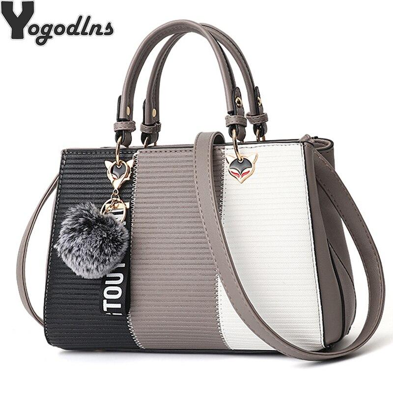 Женские сумки через плечо, вечерние сумочки с помпоном