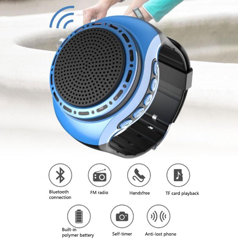 2020 портативный умный ручной динамик часы U6 Музыка Спорт Bluetooth динамик Автоспуск анти-потеря сигнализация Поддержка TF карта FM радио