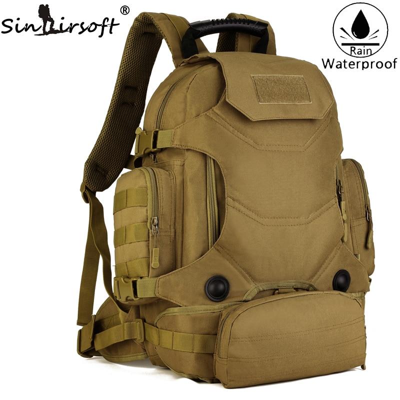 Новинка 2017 года! Sinairsoft мужские армейские Водонепроницаемый 45L открытый рюкзак Талия комбинация сумки большой Ёмкость плеча рюкзак