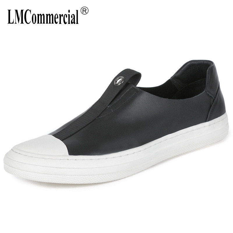 lazy shoes man Genuine Leather breathable flat bottom driving mens all-match cowhide men casual natural leather loafers spring