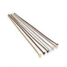 200pcs 20/26/30//40/50 mm Flat Head Pins Dia 0.7mm Gold/Silver/Rhodium/Copper/Bronze Head Pins For Jewelry Making Accessories