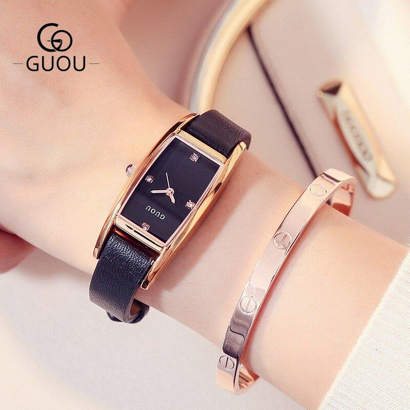Relógios de Diamante para as Mulheres Topo de Luxo Novos Marca Senhoras Relógio Quadrado Ouro Senhora Analógico Quartzo Único Feminino 2021