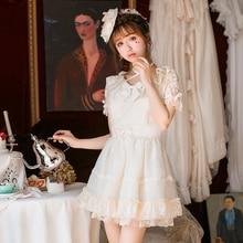 Księżniczka słodka sukienka lolita cukierki deszcz nowe japońskie słodkie krótki rękaw szyfonowa sukienka letnia sukienka typu princesse C22AB7036