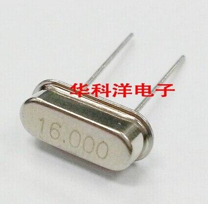 Envío Gratis barato 100 Uds 49s HC-49S 16 MHZ 16 MHZ DIP-2 cristal de cuarzo pasivo cristal resonador calidad assrance