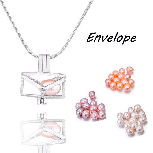 Wholesale 5pcs MIX style envelop Cage Pendant Natural Pearl Wing heart/Love Bird/Devilfish Fashion DIY Charm Pendants  PP150