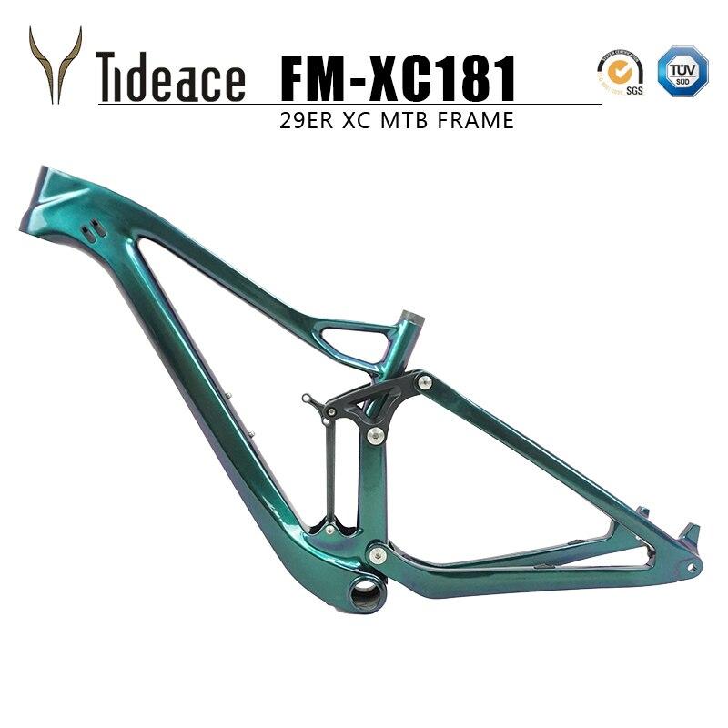 Toray t800 xc quadro de suspensão total mtb mountain bike 29er 142/148mm mtb quadro carbono ud 27.5er impulso quadro suspensão