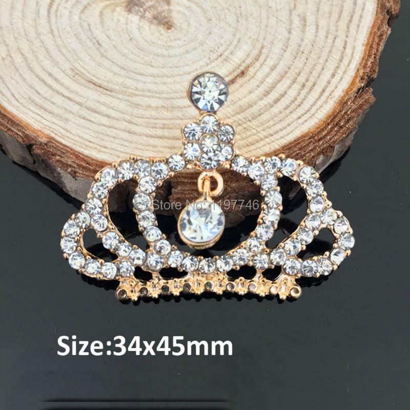Grandes botones de cristal claro costura corona plana adorno para la ropa móvil artesanías Decora encantos joyería hallazgos 10 Uds