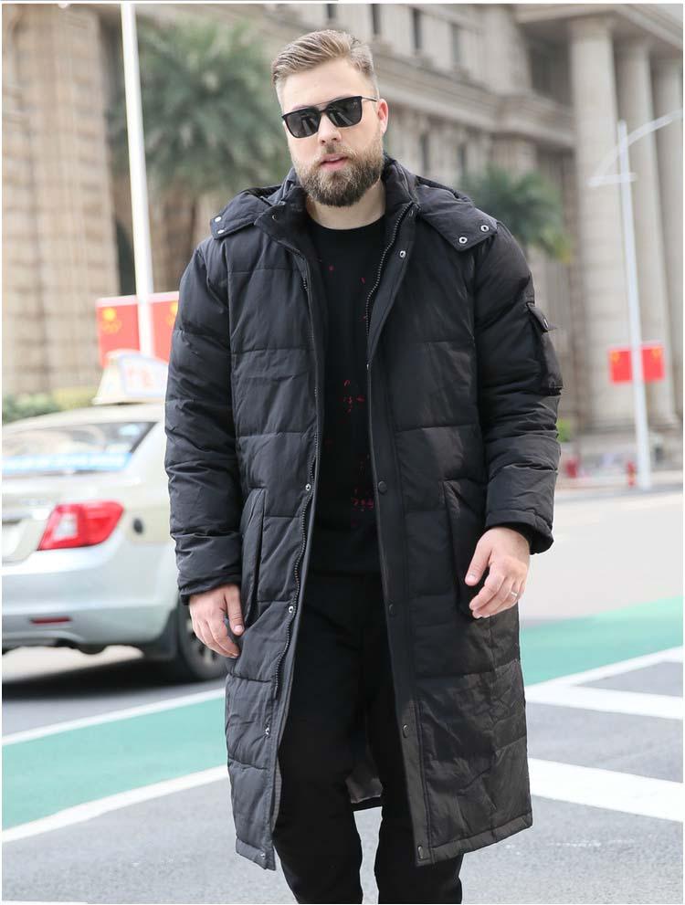 men's winter fashion duck down coat male warm parkas ultra long maxi jacket hooded plus big large size 5xl 6xl 7xl 8xl 9xl 10xl