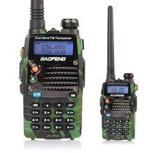 Baofeng walkie Ham Two Way Radio BAOFENG UV-5R 136-174 / 400-520 Mhz Dual Band with 1800 mAh li-ion battery Radio free earpiece