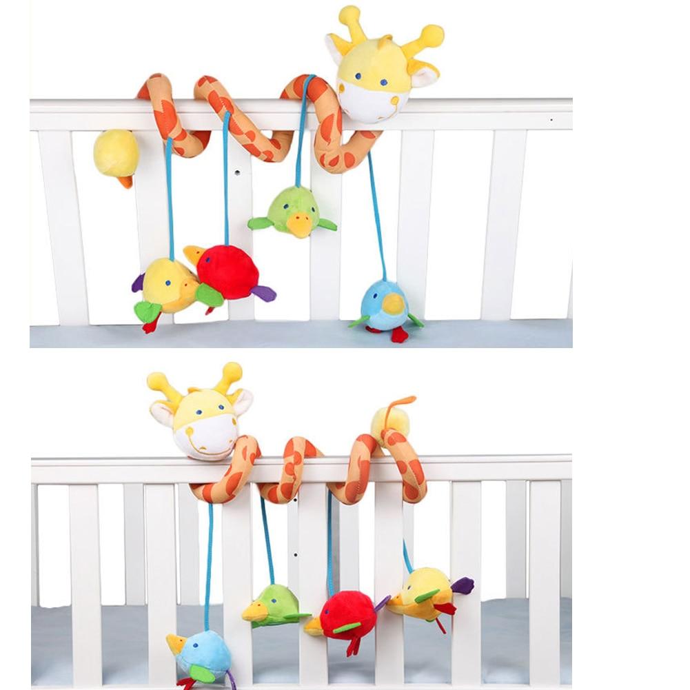 1 cochecito de bebé con forma de jirafa bonita para colgar, cochecito para juguetes y actividades de viaje para bebé