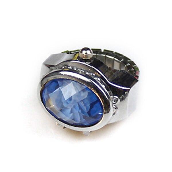 Mode femmes anneau montre elliptique stéréo fleur dames à clapet montres anneaux réglables montres à Quartz @ 17 TT @ 88