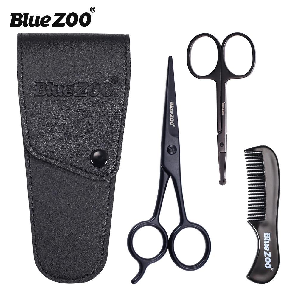 New 3 PCS Professional Beard Tool with Comb Shaving Brush for Men Mustache Beard Repair Set Scalp Health Care Paddle Brush